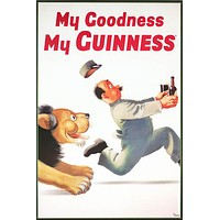 Guinness My Goodness Lion Beer Logo Poster 24x36