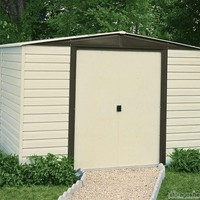 Arrow Dallas 10x6 Vinyl Coated Shed ships FREE - Storage Sheds Direct