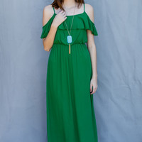 Blooming Blossoms Dress in Green
