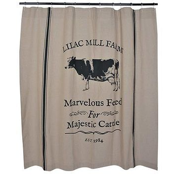 Majestic Cattle Shower Curtain