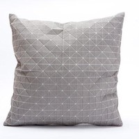 Light Grey Designer Throw Pillow Cover