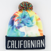 Official Trippy Cali Pom Beanie Rainbow One Size For Men 24620395101