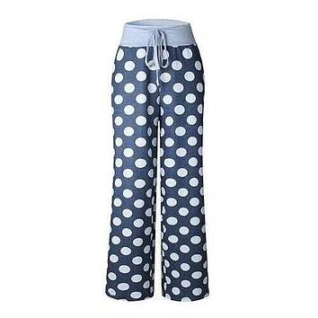 Goodnight Moon Pajamas Soft And Cute -Size: XLarge, Color: NIGHT BLUE POLKA