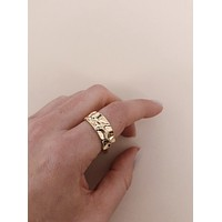 Canaria Gold Hammered Ring
