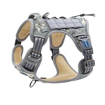 Auroth Dog Harness - Tactical & Training Reflect Harness - Gray Camouflage