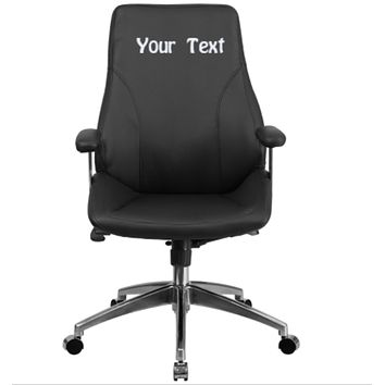 Custom Designed Mid Back Executive Chair With Your Personalized Name & Graphic