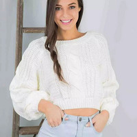 Fashion Knit Top Sweater Pullover