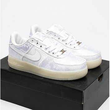 fragment x CLOT x Nike Air Force 1 PRM Leisure non slip sports shoes