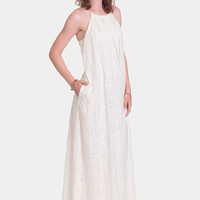 Monica Embroidered Maxi Dress By Line & Dot