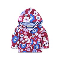 girl's Outerwear Coats blazer cotton flower baby jackets Trench Spring Girls Hood Jackets Baby raincoat