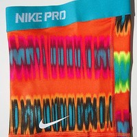 NEW! Citrus-Teal Print [XS] NIKE PRO Core Women's Compression Shorts Extra Small