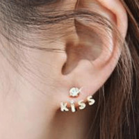 Sparkly KISS Earring Cuffs