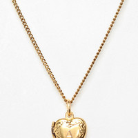 Initial Heart Locket Necklace