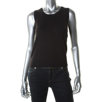 Charter Club Womens Petites Knit Ribbed Tank Top Sweater