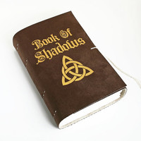 Chocolate Brown Large leather journal pleather vegan Faux suede wiccan Book of Shadows grimoire