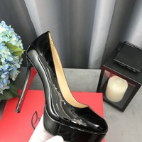 Hot Christian Louboutin Cl New Simple Pump Platforms Black Heel Height 12cm