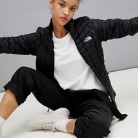 The North Face Women's ThermoBall Zip In Jacket in Black at asos.com