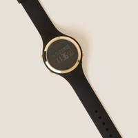 Nina round digital watch