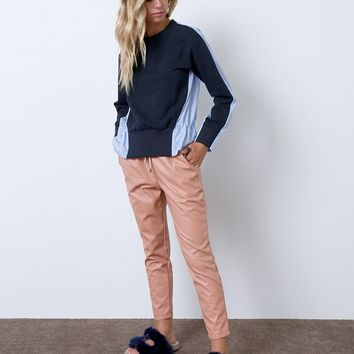 Don't Let The Pink Fool You Faux Leather Pants