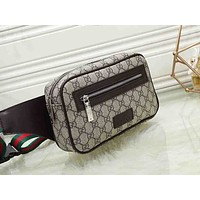 GUCCI x LV fashionable printed patchwork color Fanny pack hot seller of casual lady's cross-breast bag #5