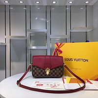 lv louis vuitton women leather shoulder bags satchel tote bag handbag shopping leather tote crossbody 196