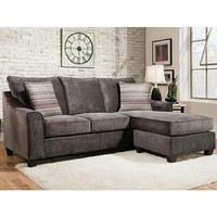 American Furniture - 2957-3482 - Elizabeth Charcoal Sectional Sofa | Sears Outlet