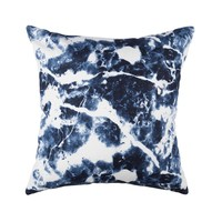 Navy Marble Pattern Pillowcase