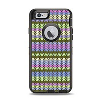 The Colorful Knit Pattern Apple iPhone 6 Otterbox Defender Case Skin Set