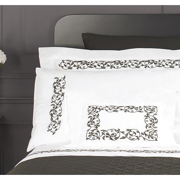 Ramages Embroidery Bedding by Dea Linens