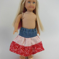 Clothes for Mini American Girl doll - Layered Ruffle Skirt