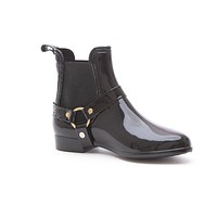 Soho Shoes Women's Fashion Low Cut Ankle Rain Boots with Straps