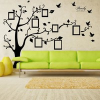 X Large Room Photo Frame Decoration Family Tree Wall Decal Sticker Poster on a Wall Sticker Tree Wallpaper Kids Photoframe Art Right Facing