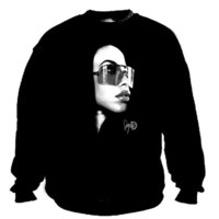 Aaliyah sunglasses crew neck sweater | Duck Sick Tees