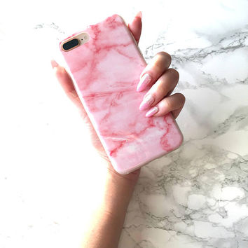 iPhone 8 7 6s 6 Plus Case RED VELVET Marble iPhone X Case iPhone 8 Case iPhone 7 Case Best Rose Gold  Valentine's Day Gift Marble Granite