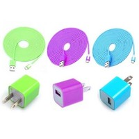 Total 6pcs/lot! USB Cable USB Power Charger For Iphone 5