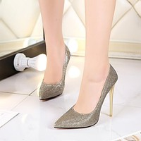 Pointed Toe High Heel Sexy Women Pumps Bridal Shoes 1804