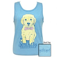 Girlie Girl Southern Originals Preppy Bowtie Puppy Tank Top