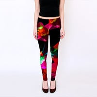 Modern Print Leggings,  Geometric Design Leggings, Yoga Leggings,