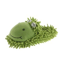 Aroma Home Womens Fuzzy Frog Novelty Slippers