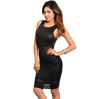 Lace Inset Bodycon Dress