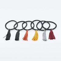 Mixed Tassel Bobble Hair Ties Pack - Urban Outfitters