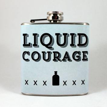 6 oz Flask - Stainless Steel Flask - Liquid Courage