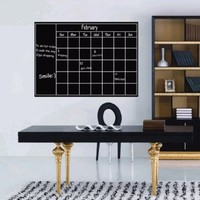 Fancy-fix Vinyl Chalkboard Wall Calendar Sticker-17 Inches By 23 Inches