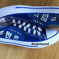Doctor Who Shoes - Free Shipping Hand Painted Shoes from denimtrend