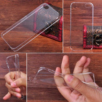 For Apple iPhone 5 5G 5S Ultra Thin Transparent Clear Back Hard Case Cover Skin