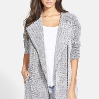 Women's ASTR Asymmetrical Zip Long Coat,