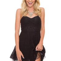 Sia Lace Dress - Black