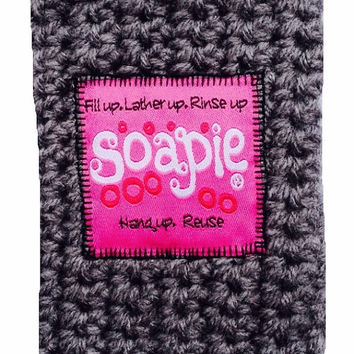 Best Soap Pouch/Felted Soap/Hot Pink & Heather Soapie with Nickle Caribiner/Best Exfoliator on the Market/Soapie Shoppe