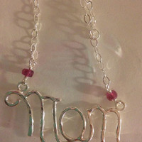 mom necklace, Mother of the bride Necklace - MOM Necklace, i love you mom, gift for mom