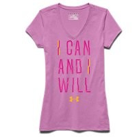 Under Armour Girls' UA I Can And I Will V-Neck